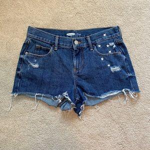 Old navy boyfriend fit cut off jean shorts size 0